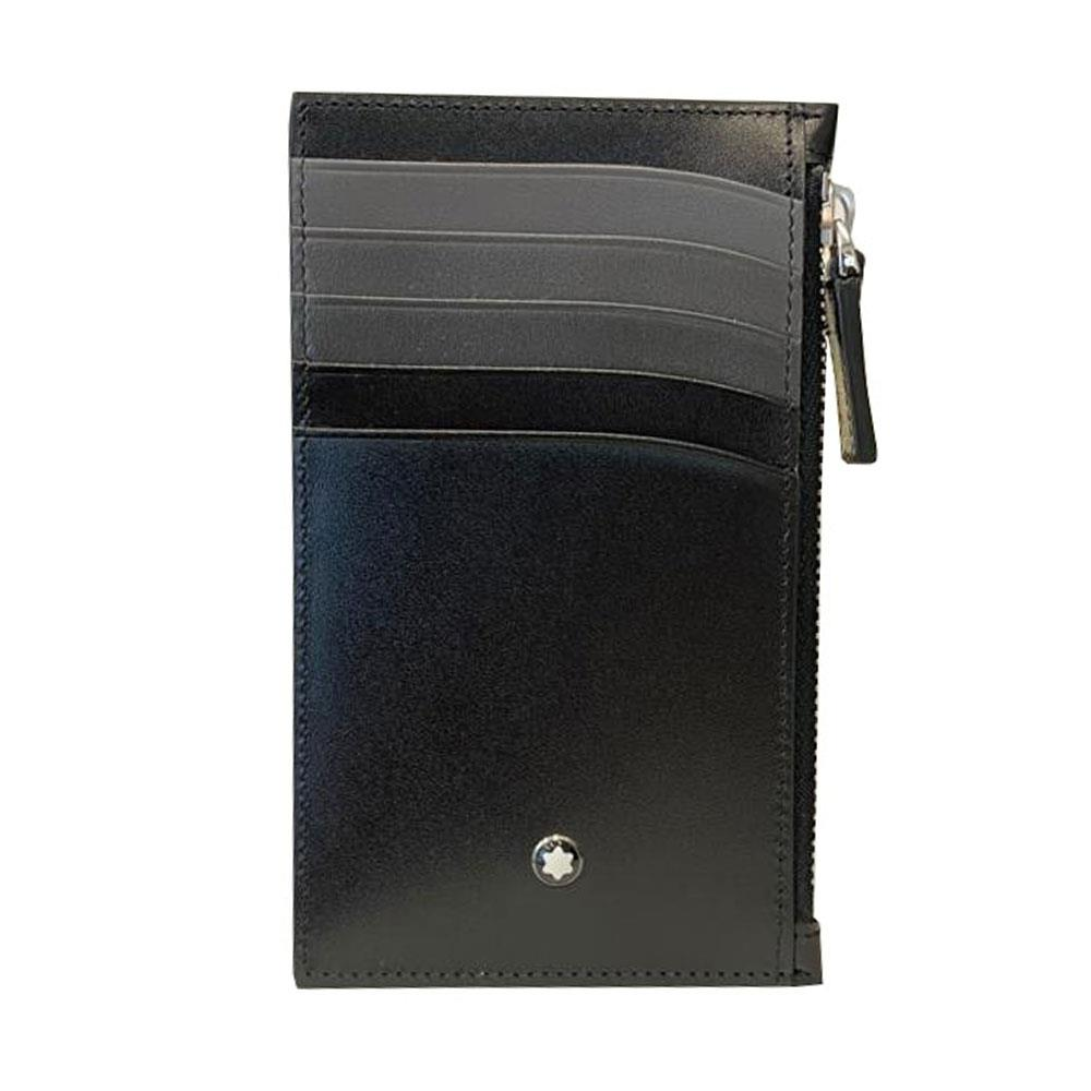 montblanc钱包 MONT BLANC 男士黑色皮革零钱包 126216_推荐淘宝好看的montblanc钱包