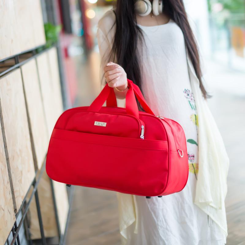 韩版单肩包 韩版大容量单肩斜跨旅行袋手提袋可装衣服的包包行李包女旅游包男_推荐淘宝好看的女韩版单肩包