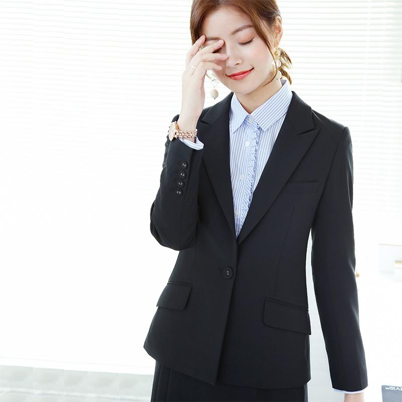 黑色小西装 OFFIY-Lead小西装外套女 新款高端黑色正式职业西装女套装韩版_推荐淘宝好看的黑色小西装