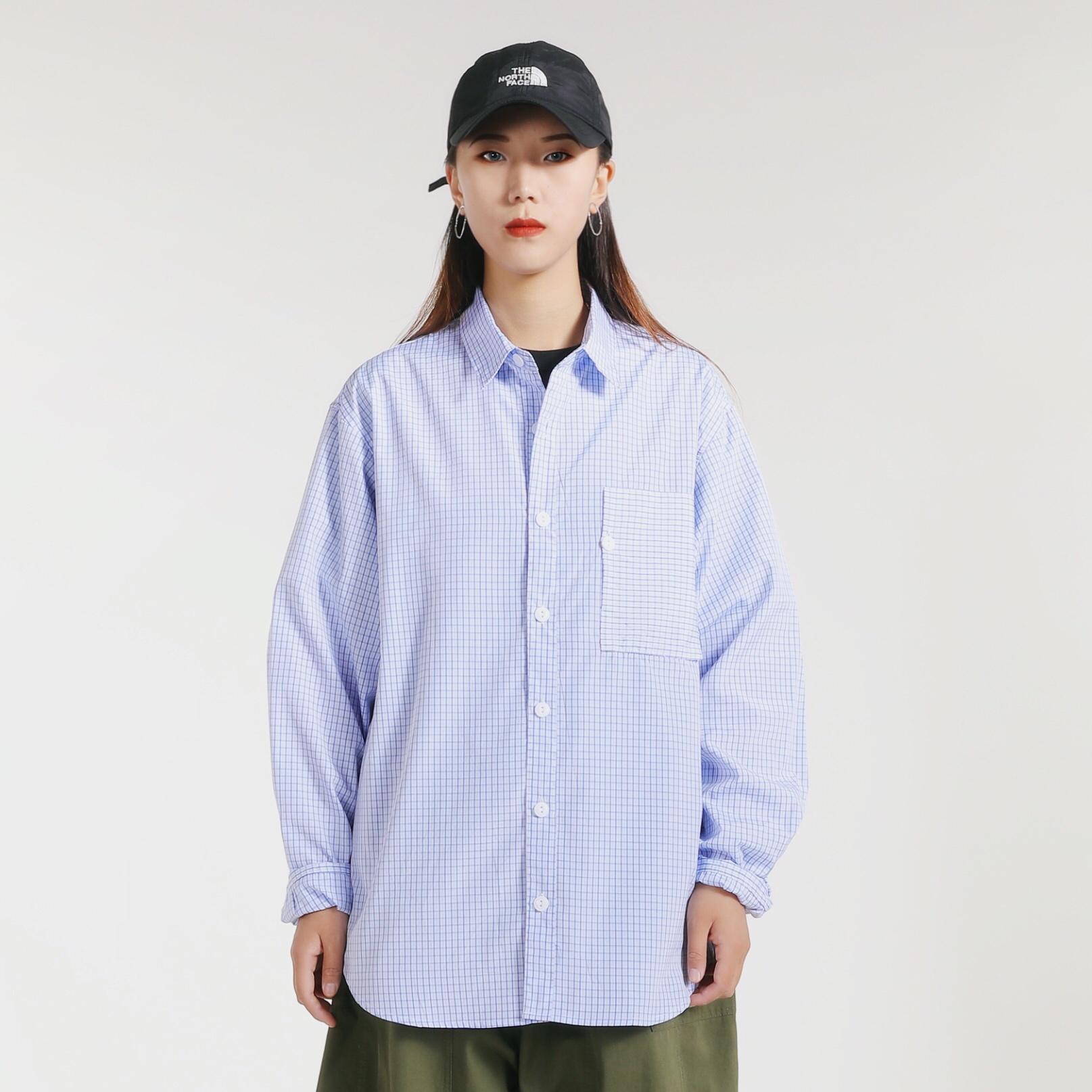 格子衬衫 NIMIPASS Plaid Shirt 20春潮流日系男女中港风文艺长袖格子衬衫_推荐淘宝好看的女格子衬衫