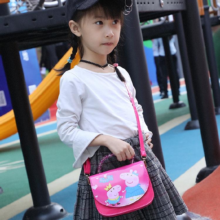 紫色迷你包 韩版幼儿童迷你小女孩可爱时尚3--7岁公主手提斜挎包包紫色小猪包_推荐淘宝好看的紫色迷你包