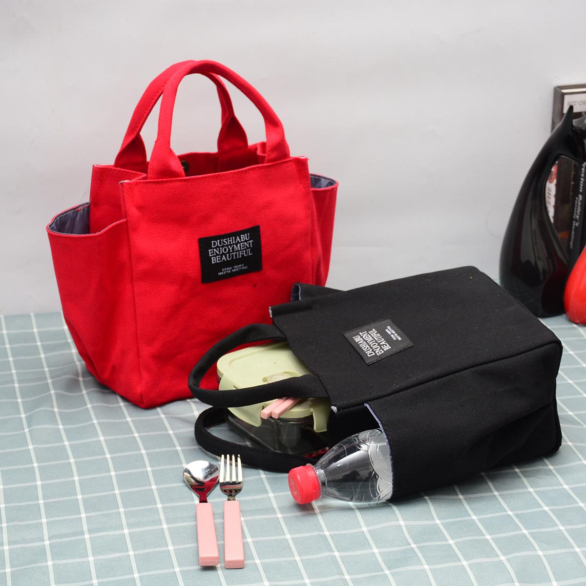 紫色手提包 帆布手提包女小号手提妈妈包杂物手拎妈咪包饭盒袋上班外出小拎包_推荐淘宝好看的紫色手提包