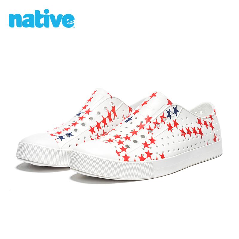 洞洞鞋 native shoes男鞋女鞋几何印花Jefferson舒适透气EVA洞洞鞋凉鞋_推荐淘宝好看的女洞洞鞋