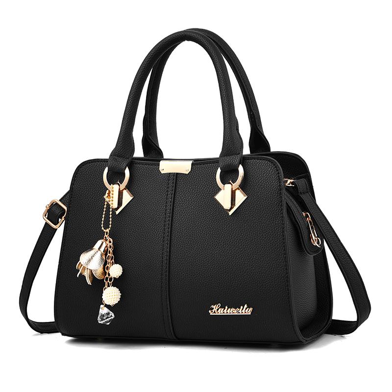 欧美手提包 袋鼠真皮女士包包2019新款欧美时尚真皮包百搭大气手提斜挎妈妈包_推荐淘宝好看的女欧美手提包