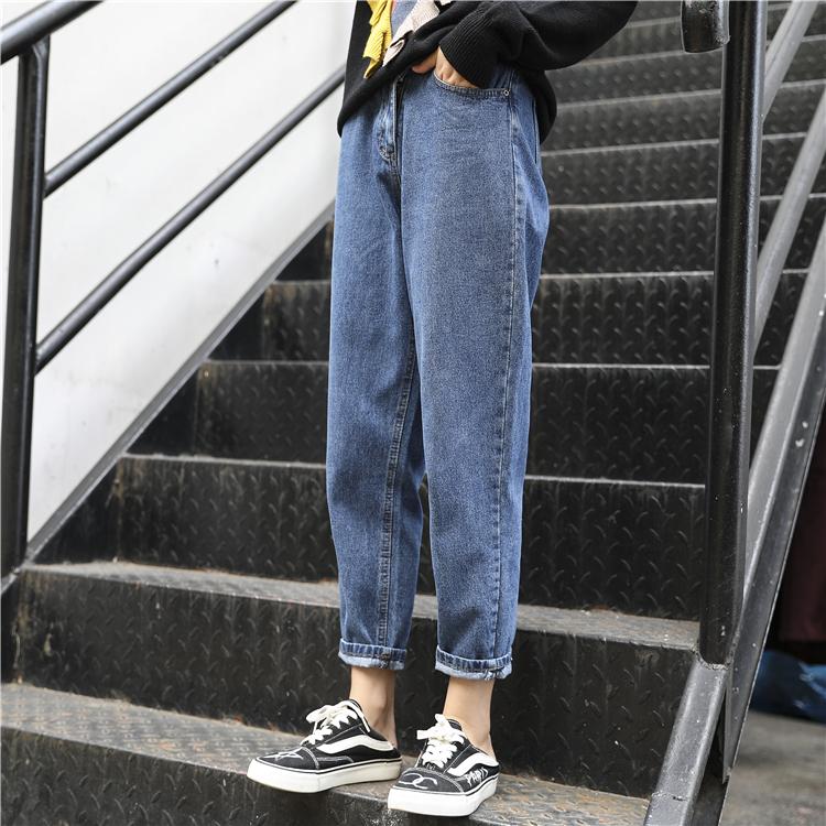 女士大码牛仔裤 2020年早秋款新款大码女装显瘦微胖妹妹初秋装穿搭洋气牛仔裤潮流_推荐淘宝好看的女大码牛仔裤