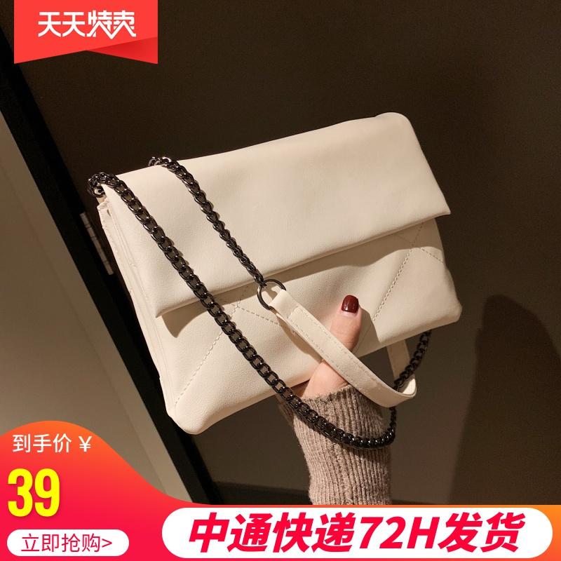 白色信封包 高级感小包包女包新款2020斜挎包时尚百搭ins洋气质感网红信封包_推荐淘宝好看的白色信封包