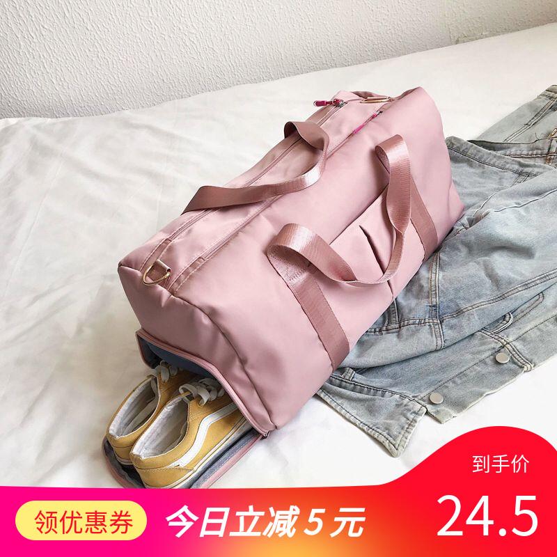 紫色手提包 网红健身包女短途大容量干湿分离手提训练包男韩版外出运动旅行包_推荐淘宝好看的紫色手提包