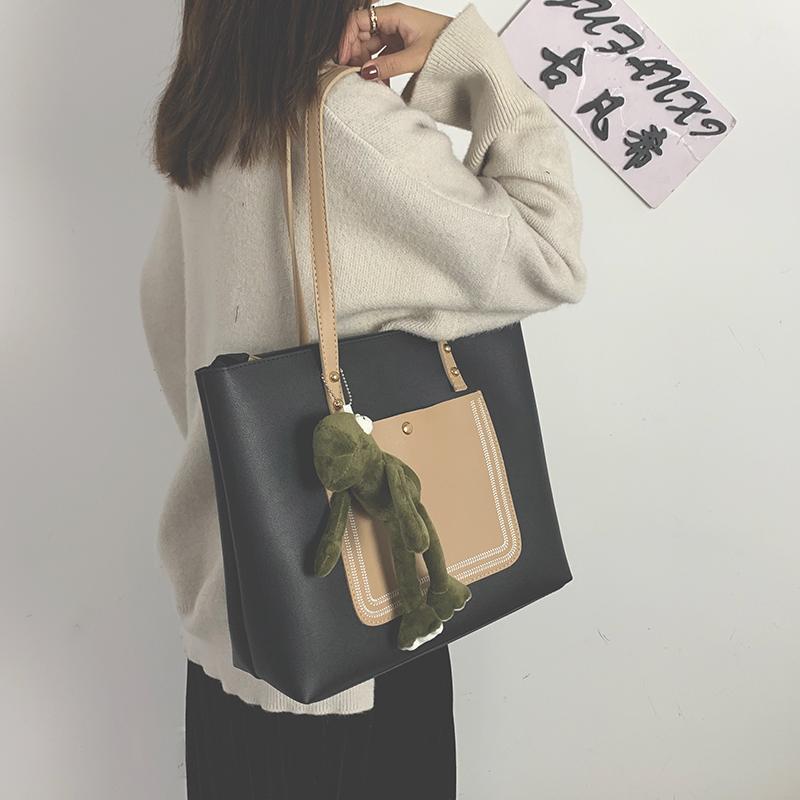 韩版时尚手提包 包包女包2020新款时尚大容量韩版托特包手提包女单肩包百搭子母包_推荐淘宝好看的女韩版手提包