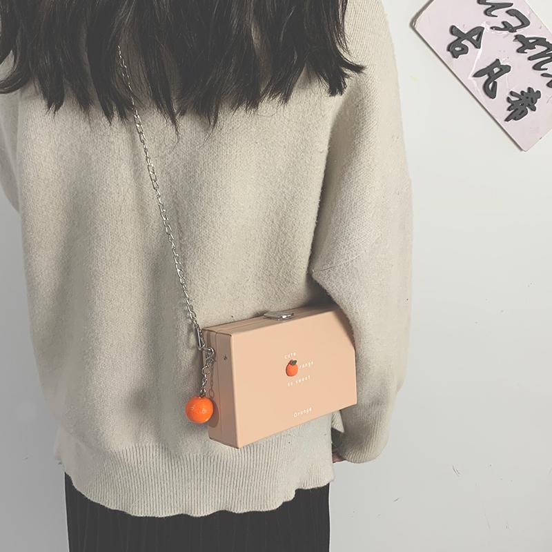 女款斜挎包 盒子小方包包女小包2021新款潮韩版百搭链条斜挎包少女单肩手机包_推荐淘宝好看的女斜挎包