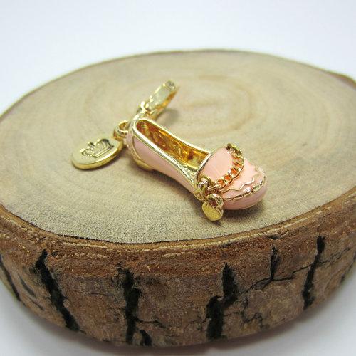 粉红色平底鞋 时尚可爱    粉红色平底鞋  项链 手链 吊坠--J8055_推荐淘宝好看的粉红色平底鞋