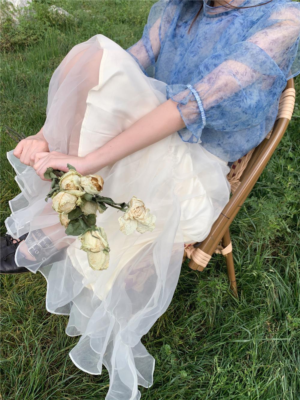 雪纺半身裙搭配 LXLILIUM网纱雪纺气质高雅半身裙_推荐淘宝好看的雪纺半身裙