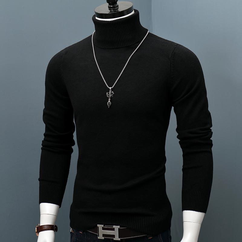 男士高领毛衣 男士高领毛衣冬装套头针织衫宽松加厚保暖打底衫韩版上衣潮羊绒衫_推荐淘宝好看的男高领毛衣