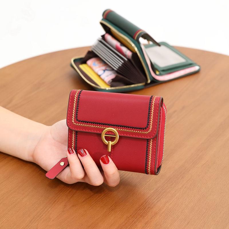 lv最新款钱包 lvоehimkiss新款女式牛皮钱包卡包一体包证件包短款小钱包钱夹_推荐淘宝好看的女lv新款钱包