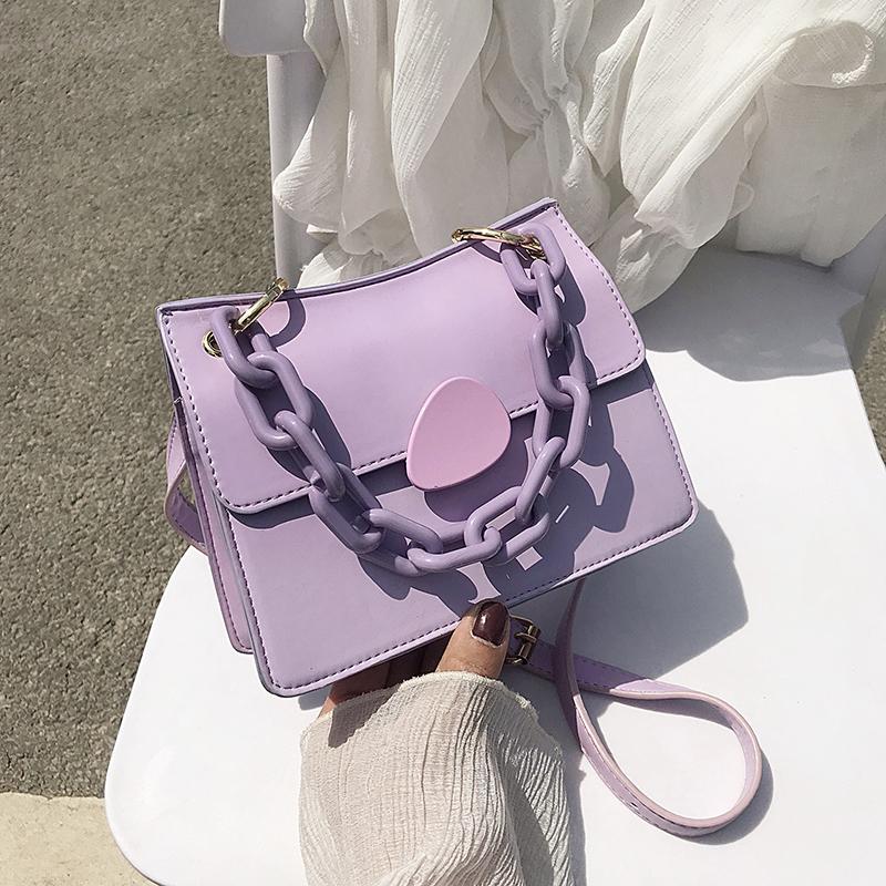 紫色手提包 网红小包包洋气女包2020流行新款潮百搭ins斜挎包时尚单肩手提包_推荐淘宝好看的紫色手提包