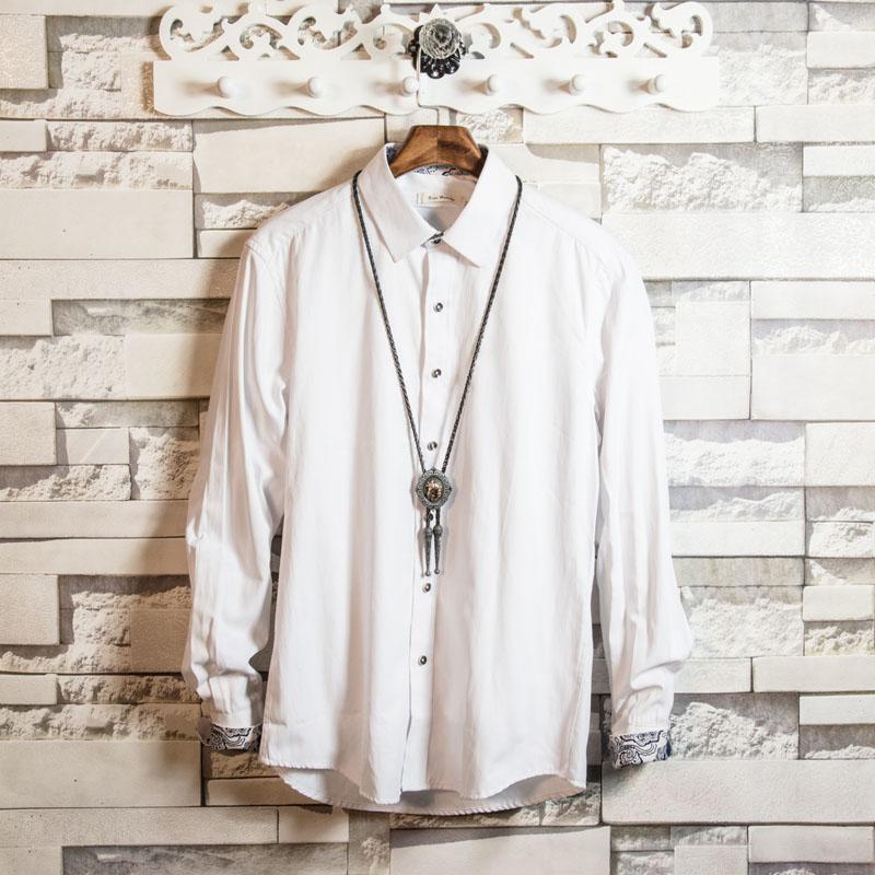 白色衬衫 白糖玫瑰21 白色修身男士大码正装打底衬衫春秋季新郎伴郎衬衣潮_推荐淘宝好看的白色衬衫