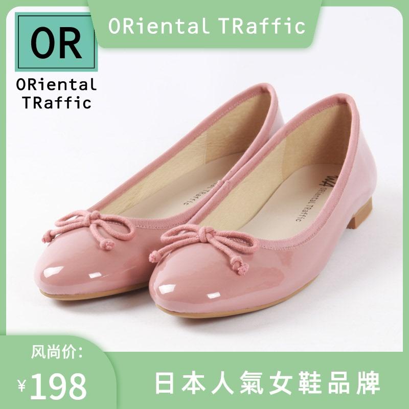 红色单鞋 ORiental TRaffic日本授权8604日系浅口红色芭蕾舞软平底单鞋女夏_推荐淘宝好看的红色单鞋