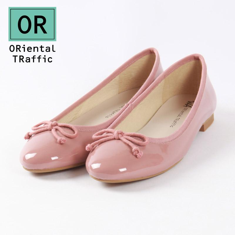 红色单鞋 ORiental TRaffic日系圆头蝴蝶结小皮鞋红色芭蕾舞平底单鞋女士夏_推荐淘宝好看的红色单鞋