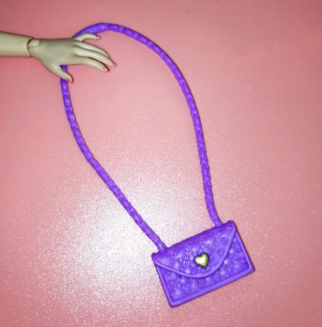 紫色信封包 新款玩具娃娃服装配件FR超模丽佳Blythe小布可儿用紫色爱心信封包_推荐淘宝好看的紫色信封包