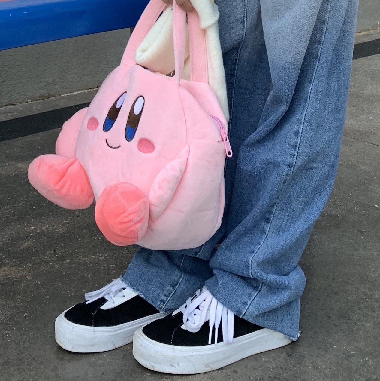 粉红色手提包 没你有钱 星之卡比kirby手提包可爱粉红色毛绒便当包公仔玩偶卡通_推荐淘宝好看的粉红色手提包