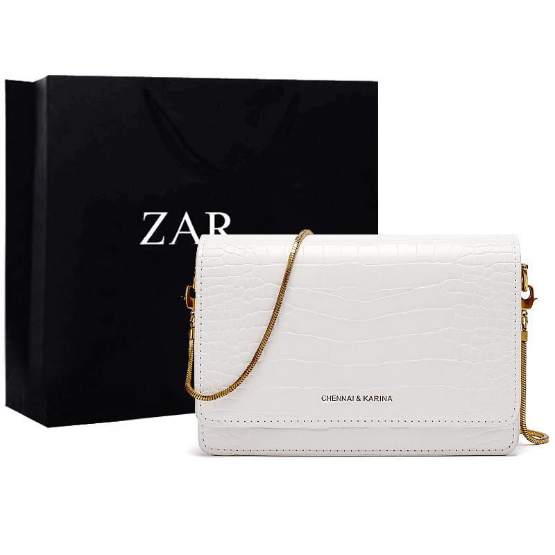 白色链条包 香港正品鳄鱼纹女包包2021新款潮链条包时尚洋气斜挎包白色小方包_推荐淘宝好看的白色链条包