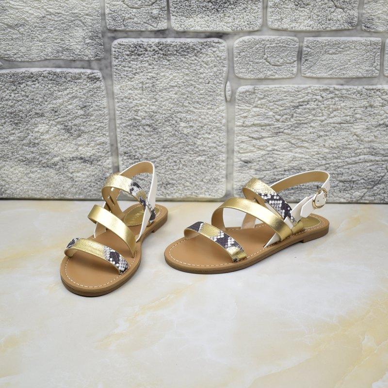 罗马凉鞋 外贸女鞋平底罗马鞋夏季细带舒适日常欧美原单出口简约凉鞋_推荐淘宝好看的女罗马凉鞋