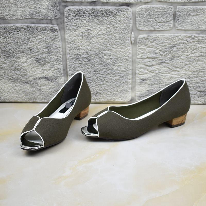 鱼嘴鞋 外贸原单女鞋出口日本软底浅口鱼嘴舒适低跟露趾包后跟凉鞋豹纹_推荐淘宝好看的女鱼嘴鞋