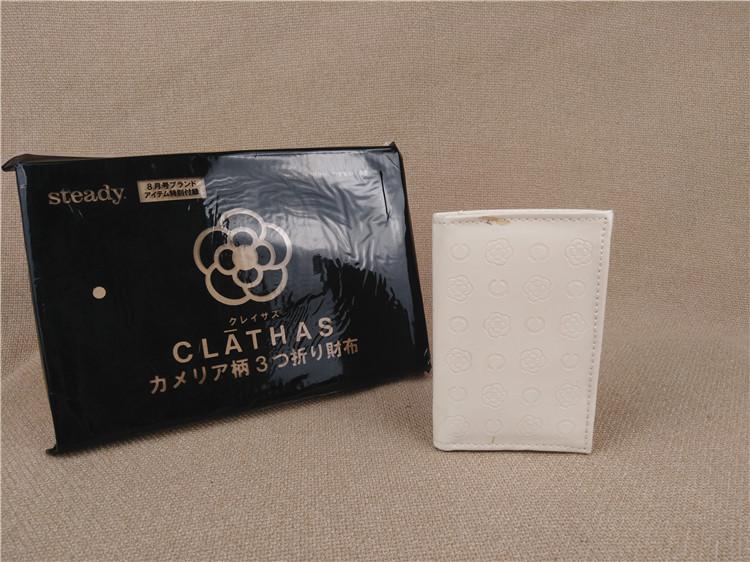 白色钱包 catmimi55の 日本乳白色三折钱包女士随身小包包短款 零钱包 卡包_推荐淘宝好看的白色钱包