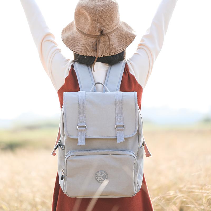 笔记本双肩包 帆布双肩包女大容量笔记本电脑背包高中大学生书包时尚休闲旅行包_推荐淘宝好看的女笔记本双肩包