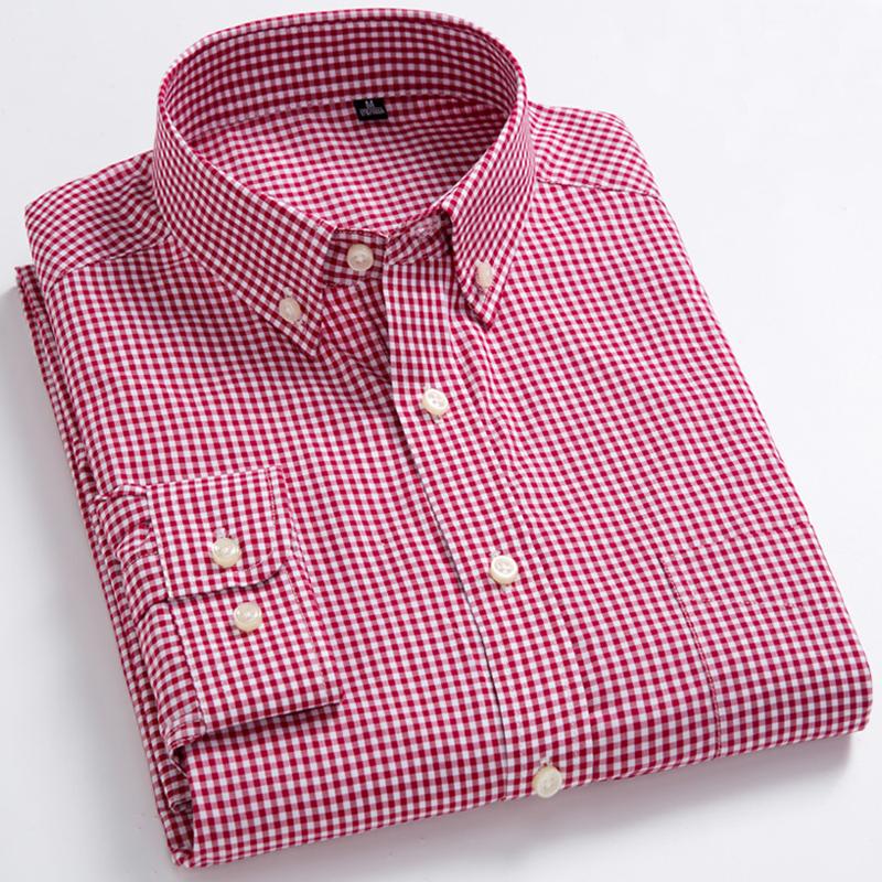 红色衬衫 秋季日系纯棉红色小格子衬衫男长袖衬衣韩版青少年潮流方格纹寸衫_推荐淘宝好看的红色衬衫