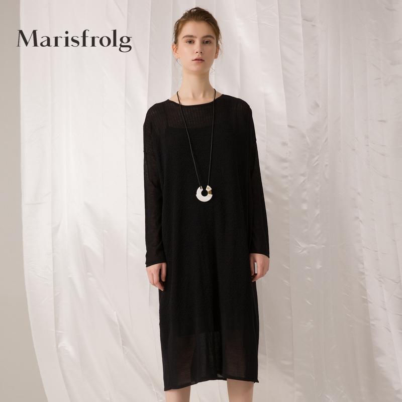 玛丝菲尔女装正品 Marisfrolg玛丝菲尔女装时尚两件套羊驼毛连衣裙春新品专柜同款_推荐淘宝好看的玛丝菲尔正品