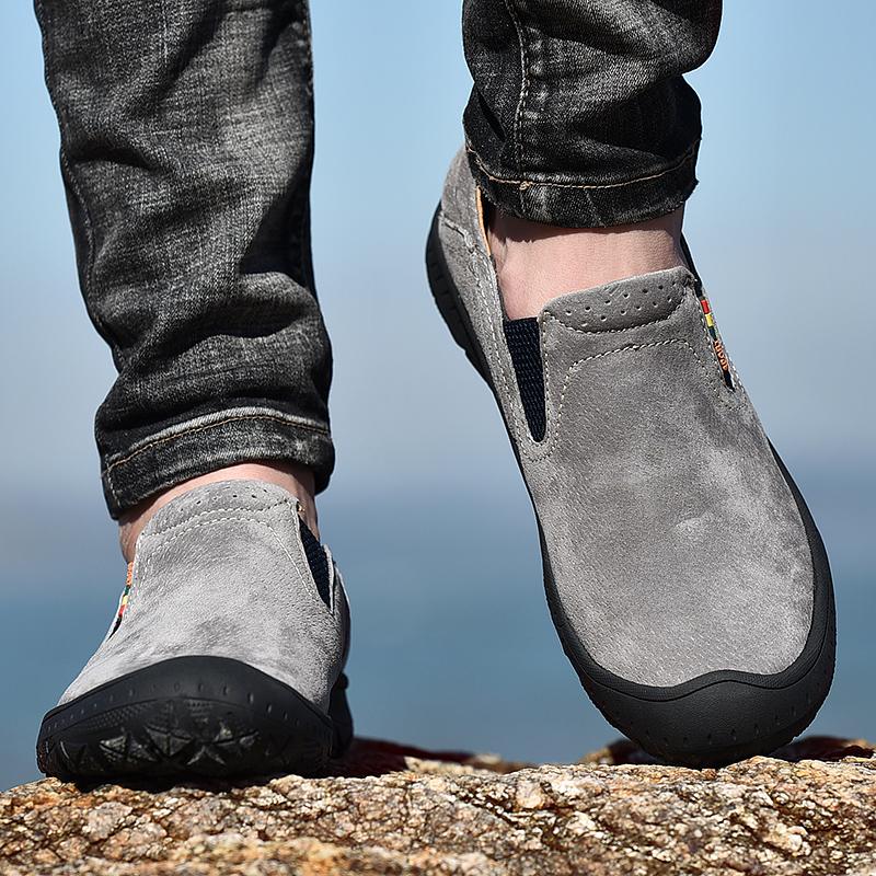 登山鞋 春季皮鞋45真皮户外休闲鞋46一脚蹬登山鞋47冬季加绒特大码男鞋48_推荐淘宝好看的登山鞋