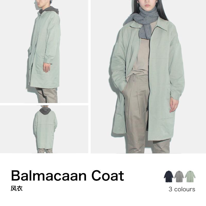 风衣 U.T物质公式  -男女同款- 夹棉长款风衣保暖风衣-拉链门襟_推荐淘宝好看的女风衣