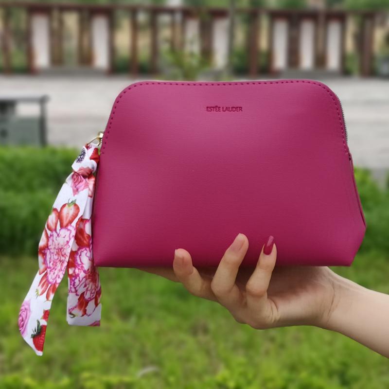 紫色钱包 雅诗兰黛(紫色)丝带单包化妆包手拿晚宴拉链包钥匙零钱包_推荐淘宝好看的紫色钱包