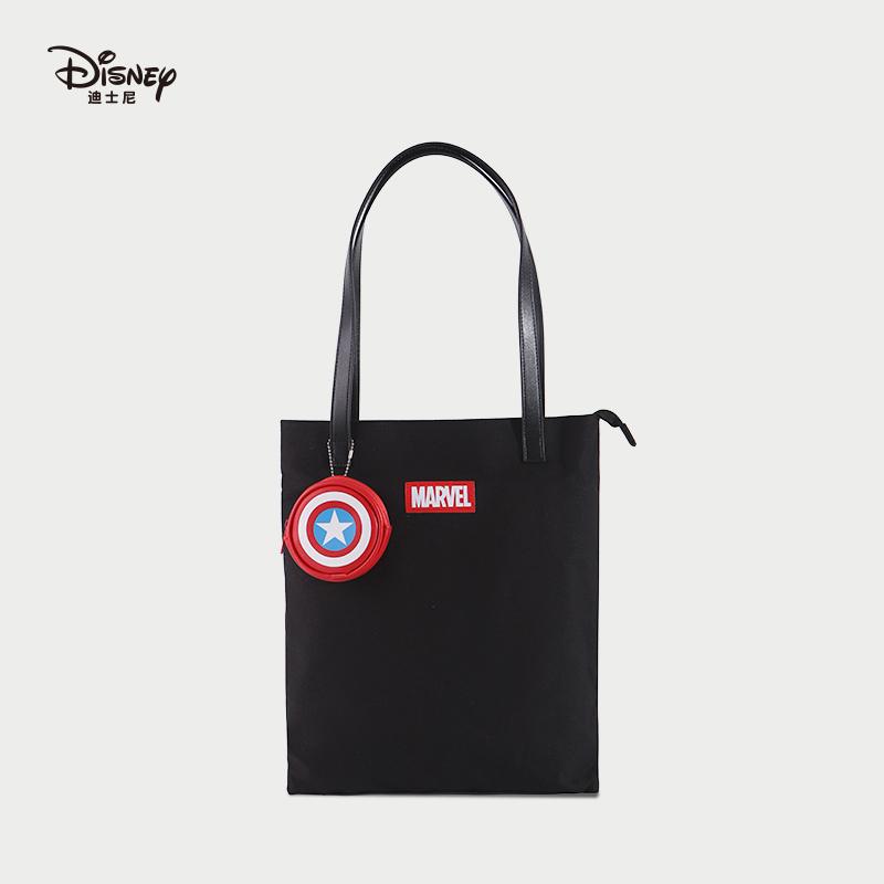 时尚手提包 迪士尼新款2020漫威时尚手提包单肩包青年学生书袋收纳袋女包_推荐淘宝好看的女时尚手提包