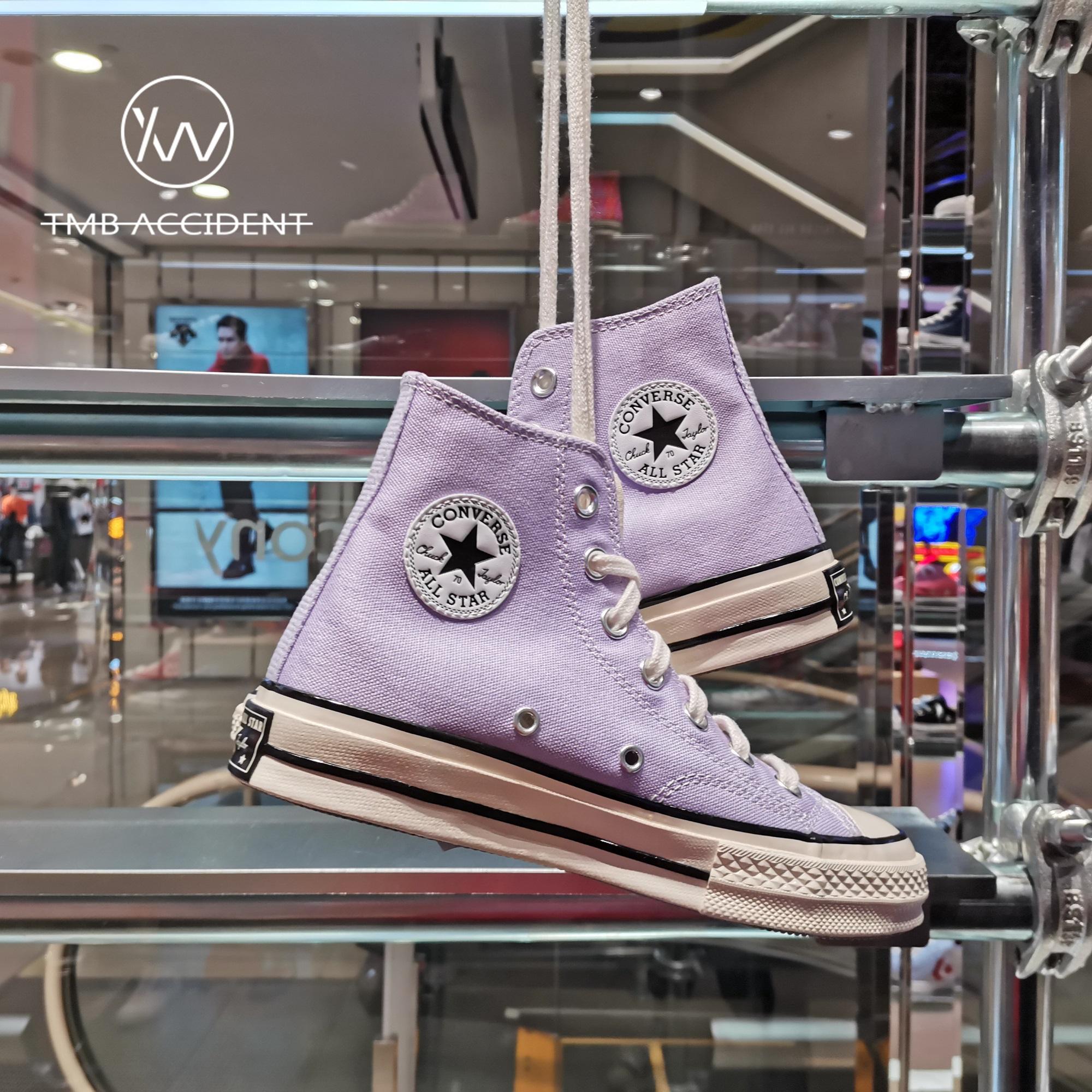 紫色帆布鞋 CONVERSE匡威1970S 香芋紫 淡紫色三星标高帮男女鞋帆布鞋167862C_推荐淘宝好看的紫色帆布鞋