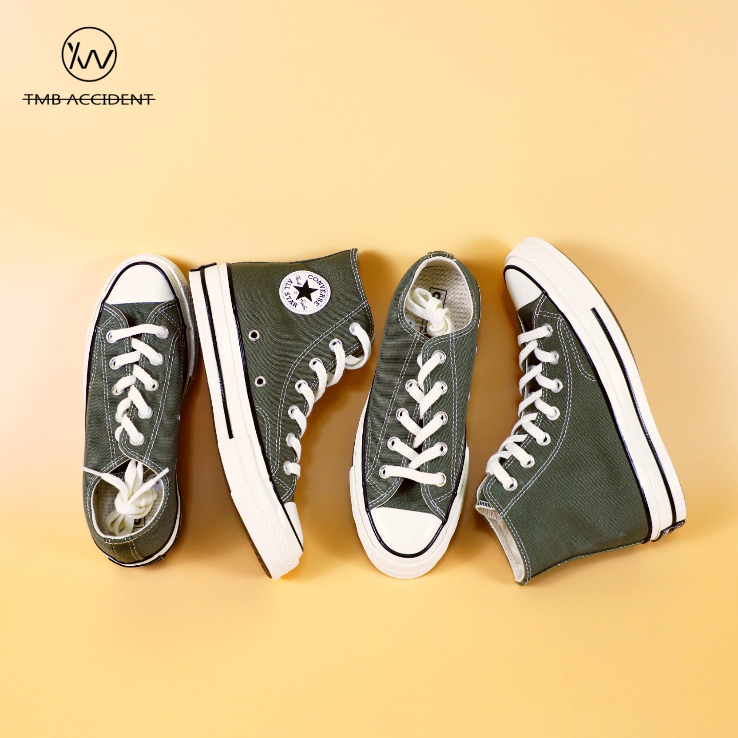 绿色帆布鞋 Converse匡威1970s 草绿色 军绿色高帮低帮帆布鞋162052C 162060C_推荐淘宝好看的绿色帆布鞋
