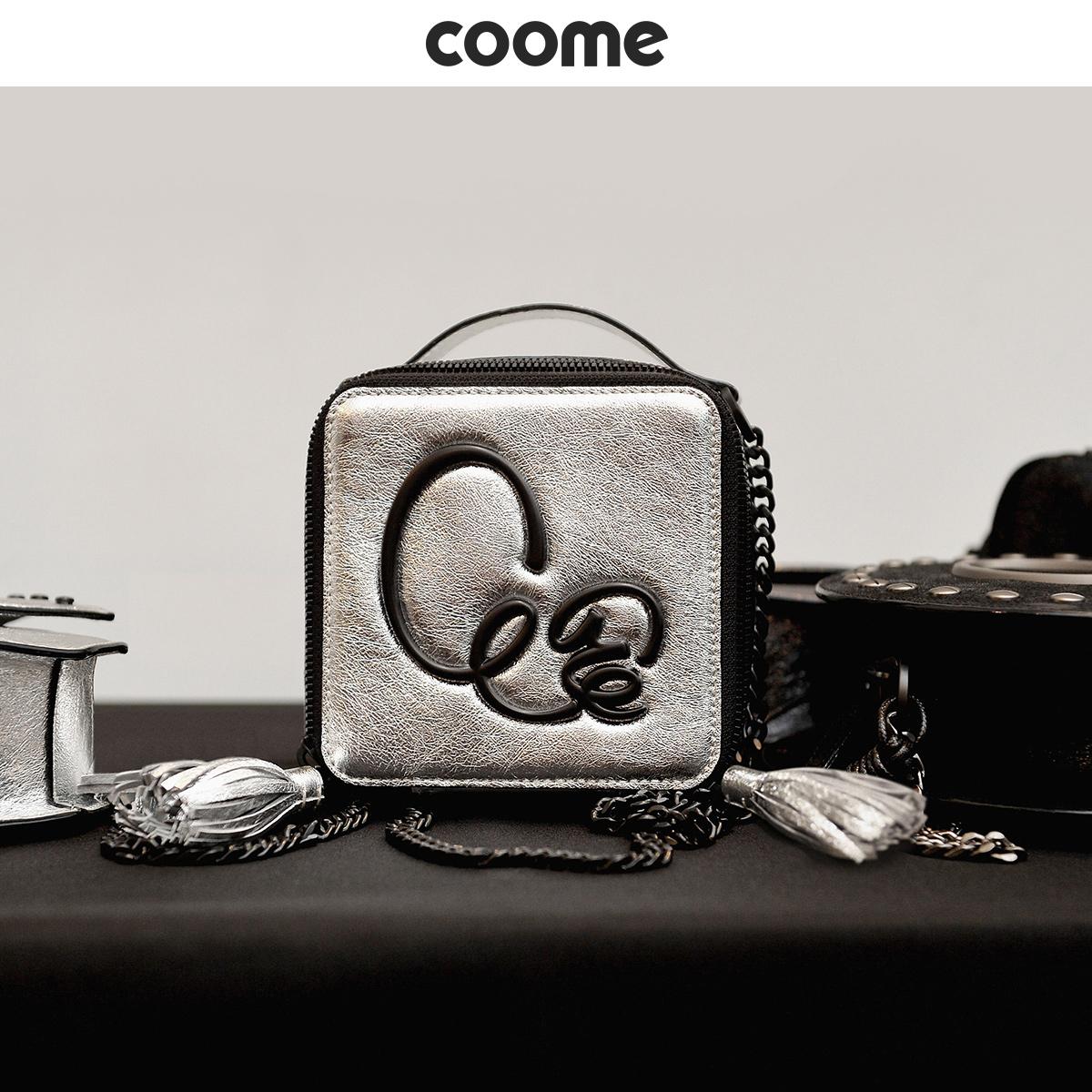 女式真皮手提包 coome2020新款真皮女包包小众手提包方形包迷你斜挎包时尚女包_推荐淘宝好看的女真皮手提包