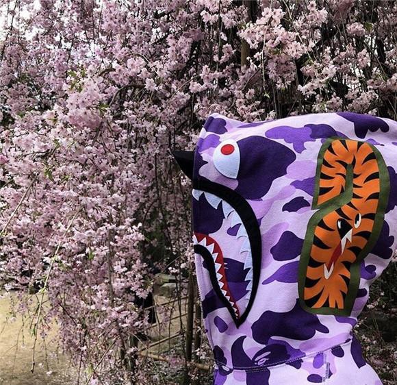 紫色卫衣 白紫色 迷彩BF风街头男女情侣卫衣外套帽衫_推荐淘宝好看的紫色卫衣