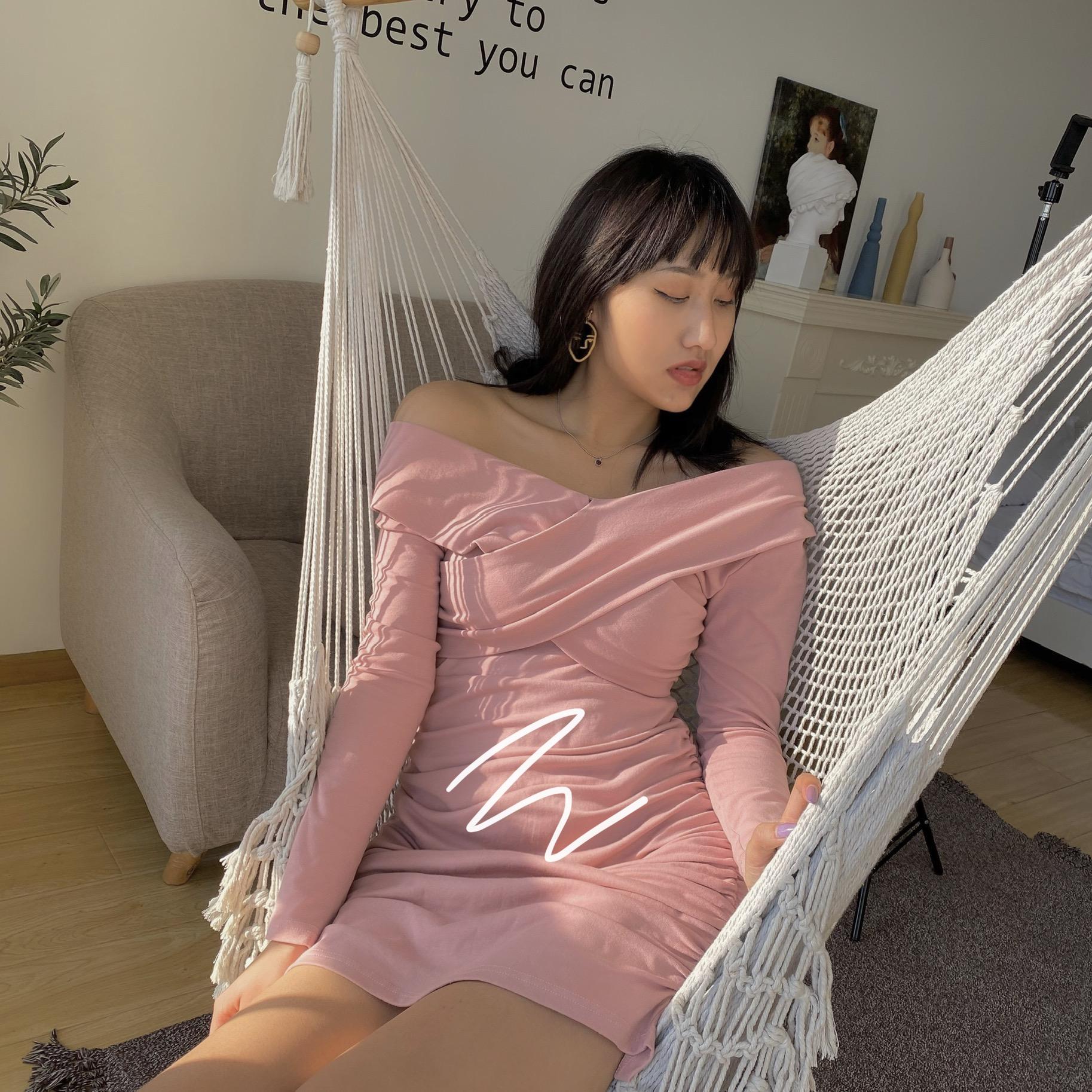 紧身连衣裙 17sui 新款女装时尚气质v领长袖修身显瘦包臀紧身性感连衣裙_推荐淘宝好看的紧身连衣裙
