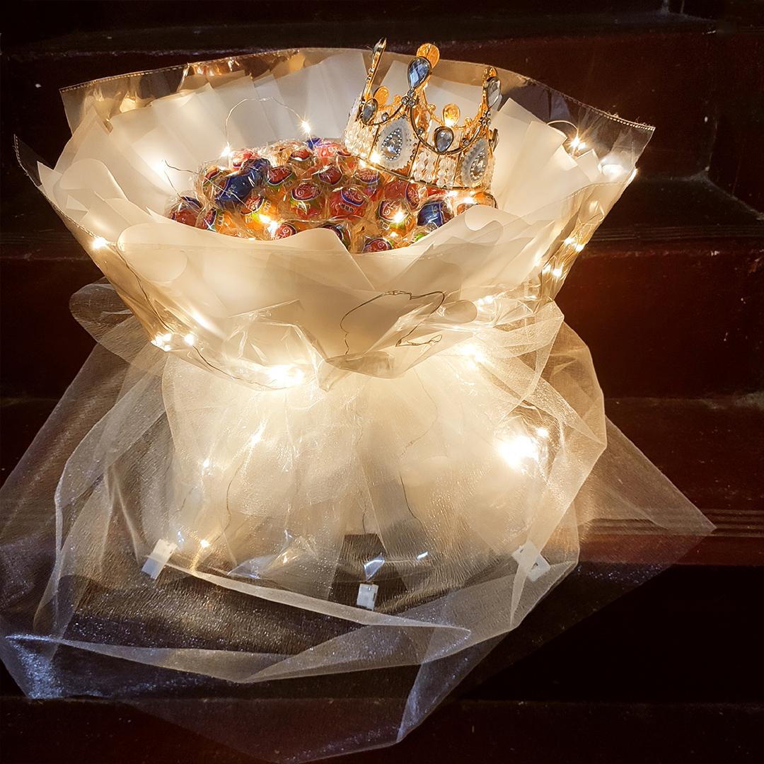 白色糖果包 520白色情人节diy发光棒棒糖果花束零食成品包装纸制作材料包全套_推荐淘宝好看的白色糖果包