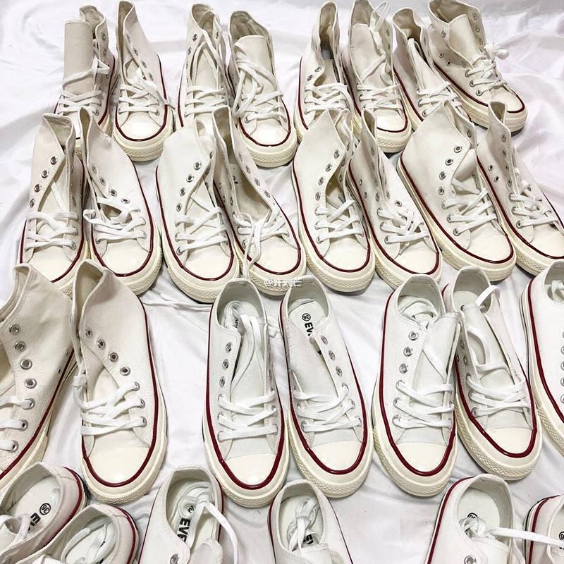 白色帆布鞋 许刘芒 2018春季ulzzang小白鞋白色帆布鞋韩版百搭chic女学生街拍_推荐淘宝好看的白色帆布鞋