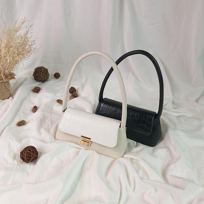 白色手提包 高级感法国小众包包女新款2019韩版百搭单肩小方包时尚网红手提包_推荐淘宝好看的白色手提包