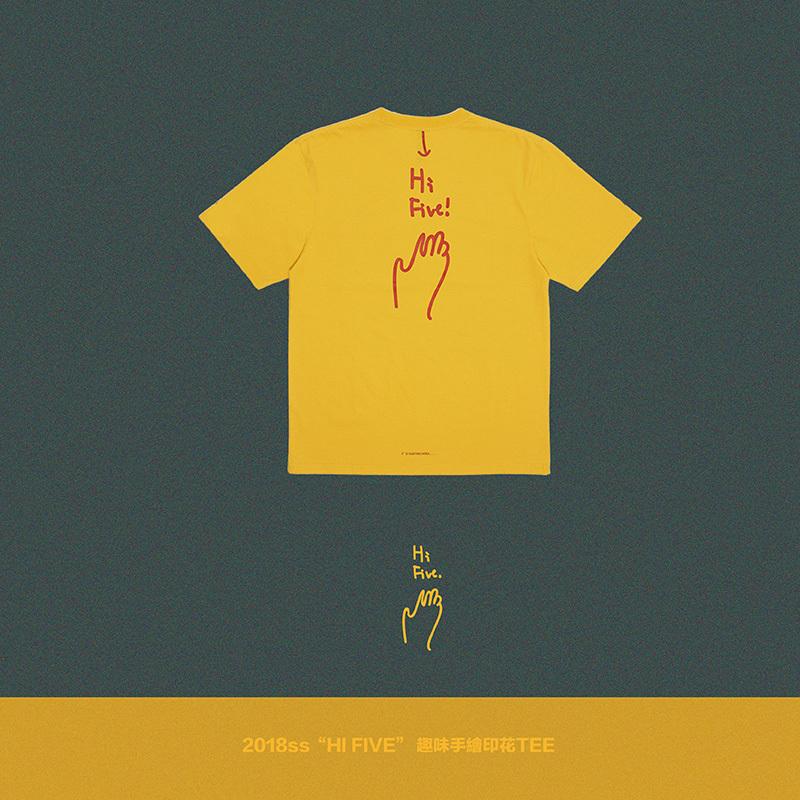 原创手绘t恤 HuntingArea原创设计手绘印花休闲纯棉圆领短袖T恤潮牌男女情侣款_推荐淘宝好看的女原创手绘t恤