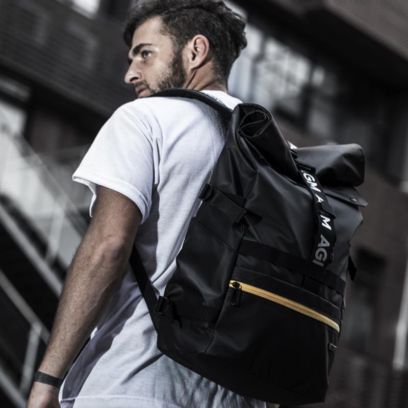 户外双肩包 AGM 黑盾城市猎人防水双肩包男女2020新款大容量旅行户外电脑背包_推荐淘宝好看的女户外双肩包