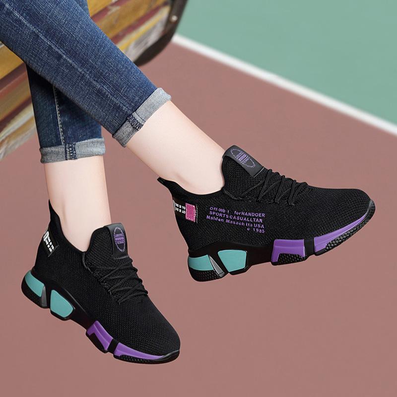 跑步鞋 新款女鞋波鞋健身休闲鞋女ins轻便透气网鞋运动单鞋老爹鞋跑步鞋_推荐淘宝好看的跑步鞋