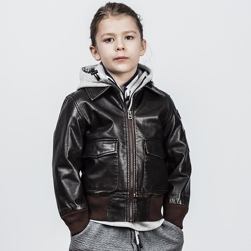 pu夹克 AK童装水洗做旧PU单夹克 儿童复古皮衣夹克外套 儿童夹克外套男_推荐淘宝好看的男pu夹克
