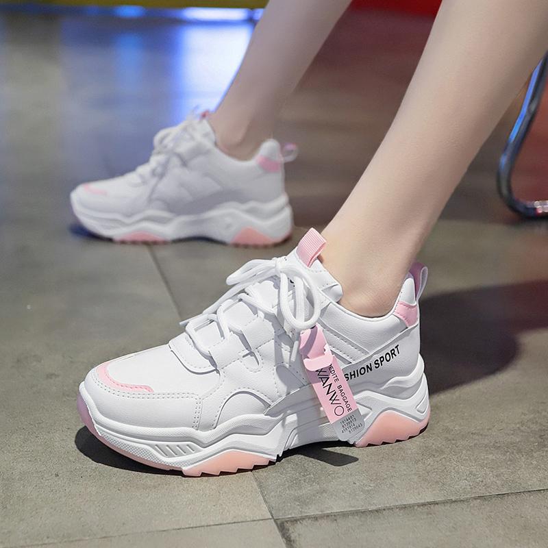紫色运动鞋 2020春季新款ins紫色老爹运动鞋女2019韩版百搭爆款小白跑步鞋潮_推荐淘宝好看的紫色运动鞋