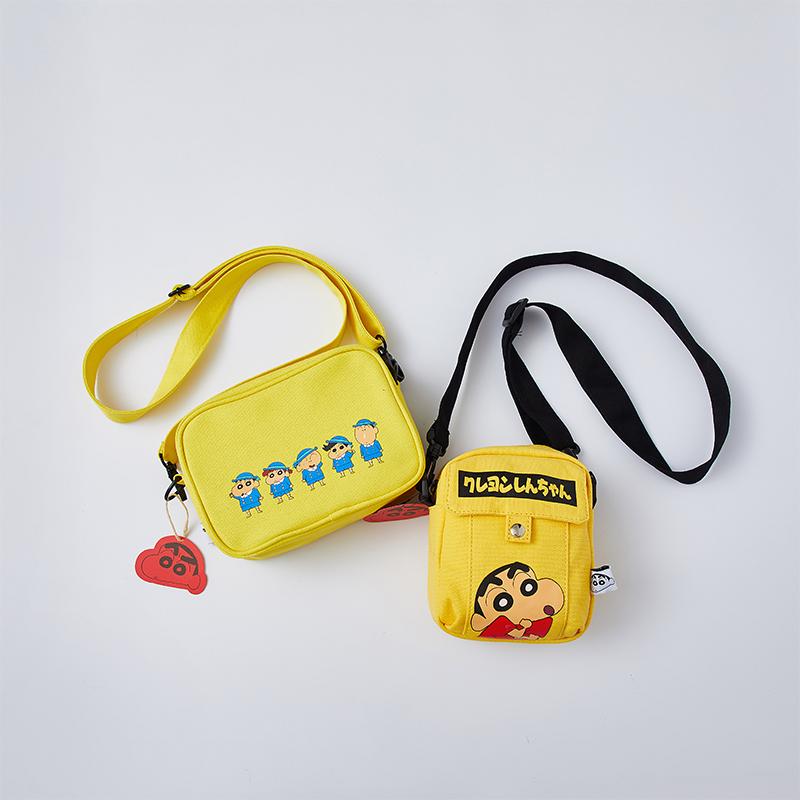 黄色邮差包 正版带吊牌 幼稚园卡通同款黄色帆布拉链胸包斜挎包邮差包小包包_推荐淘宝好看的黄色邮差包