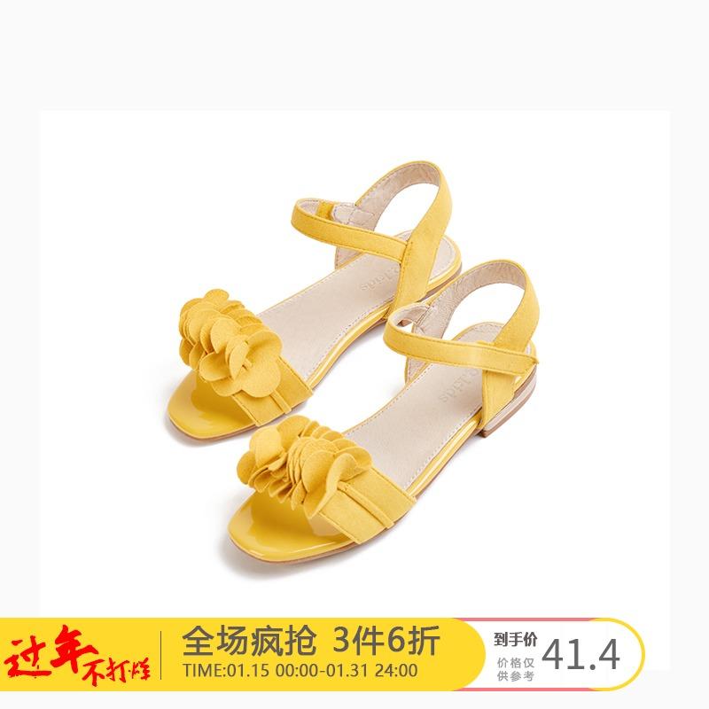 女童凉鞋 gxg kids女童凉鞋夏季新款儿童公主软底平底鞋子B18250609_推荐淘宝好看的儿女童凉鞋
