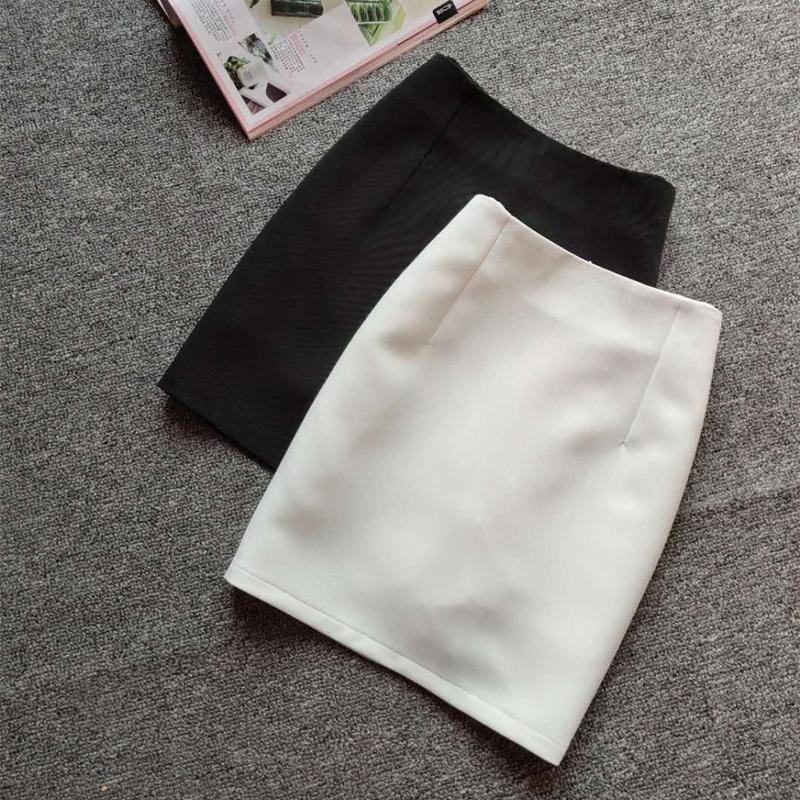 白色半身裙 2021春夏秋款半身裙女白色包臀短裙一步裙中高腰裙子修身大码显瘦_推荐淘宝好看的白色半身裙